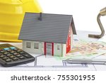 model of a small house ... | Shutterstock . vector #755301955