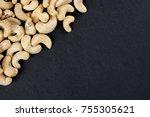 cashew kernels isolated on... | Shutterstock . vector #755305621