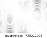 abstract halftone wave dotted... | Shutterstock .eps vector #755312005
