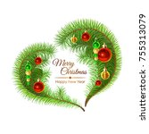 colorful illustration with fir... | Shutterstock .eps vector #755313079