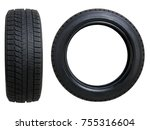 car tires isolated on white   Shutterstock . vector #755316604