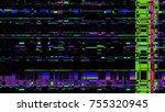 glitch texture. computer screen ...   Shutterstock .eps vector #755320945