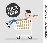 black friday annual sale event. ... | Shutterstock .eps vector #755326309