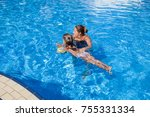 mother with daughter summer... | Shutterstock . vector #755331334