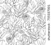 Seamless Pattern With Tropic...