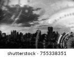 technology background concept.... | Shutterstock . vector #755338351