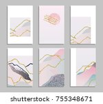 collection of abstract... | Shutterstock .eps vector #755348671