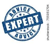 expert advice rubber vector... | Shutterstock .eps vector #755351704
