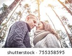 the concept of love. a pair of... | Shutterstock . vector #755358595