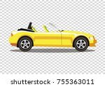 yellow modern cartoon colored... | Shutterstock .eps vector #755363011