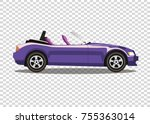 violet modern cartoon colored... | Shutterstock .eps vector #755363014