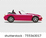 red modern cartoon colored... | Shutterstock .eps vector #755363017