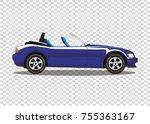 blue modern cartoon colored... | Shutterstock .eps vector #755363167