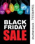 black friday  sale creative... | Shutterstock . vector #755364901