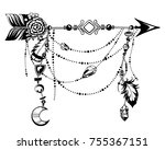 magic symbolic art in boho... | Shutterstock .eps vector #755367151
