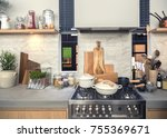 detail of  kitchen in country... | Shutterstock . vector #755369671