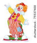 vector illustration  cute clown ... | Shutterstock .eps vector #75537400
