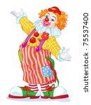 vector illustration  cute clown ...   Shutterstock .eps vector #75537400