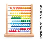 Wooden Child Abacus Isolated O...