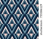 abstract geometric pattern | Shutterstock .eps vector #755386129