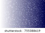 falling snow background. vector ... | Shutterstock .eps vector #755388619
