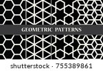 black and white geometric... | Shutterstock .eps vector #755389861