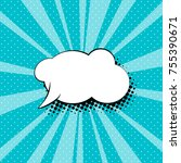 empty speech bubble for a quote ... | Shutterstock .eps vector #755390671