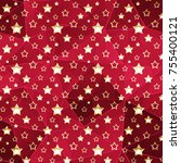 seamless christmas pattern. ... | Shutterstock . vector #755400121