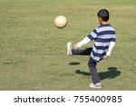japanese boy playing with... | Shutterstock . vector #755400985