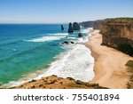 gorgeous landscape in the...   Shutterstock . vector #755401894