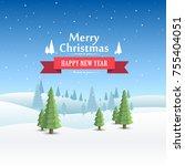 merry christmas cover art ... | Shutterstock .eps vector #755404051
