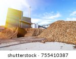 bio power plant with storage of ... | Shutterstock . vector #755410387