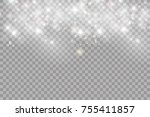 glowing lights for holidays.... | Shutterstock .eps vector #755411857