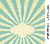 sunlight retro faded grunge...   Shutterstock .eps vector #755412301