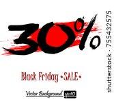 black friday banner. black... | Shutterstock .eps vector #755432575