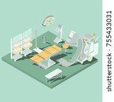 vector isometric interior of... | Shutterstock .eps vector #755433031