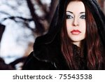 Shot Of A Gothic Woman In A...