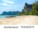 the famous island railay krabi... | Shutterstock . vector #755435575