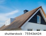 detail of a newly build... | Shutterstock . vector #755436424