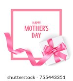 mother's day template design.... | Shutterstock .eps vector #755443351