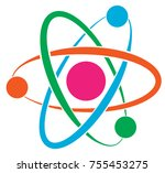 atom vector icon | Shutterstock .eps vector #755453275
