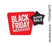 black friday sticker for...   Shutterstock .eps vector #755456875