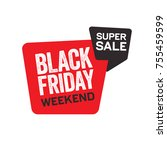 black friday sticker for...   Shutterstock .eps vector #755459599