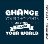 change your thoughts vector... | Shutterstock .eps vector #755462059