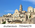 matera  italy. sassi districts... | Shutterstock . vector #755464279
