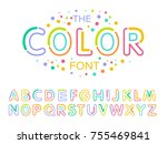 vector of modern stylized font... | Shutterstock .eps vector #755469841