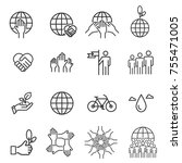 eco line icons vector... | Shutterstock .eps vector #755471005