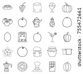 tea garden icons set. outline...   Shutterstock .eps vector #755472661
