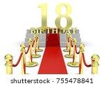 happy birthday   3d | Shutterstock . vector #755478841