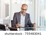 mature business man in formal... | Shutterstock . vector #755483041